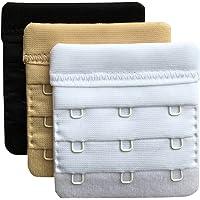 709c0701df Chanie Women Pack of 3 Soft Comfortable 3 Hooks Bra Extender