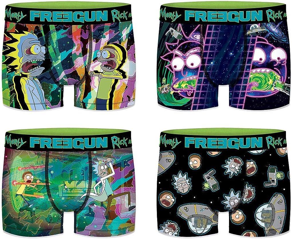 Multicolore Assortiment mod/èles Photos Selon arrivages Ozabi Pack de 4 Boxers Surprise Freegun en Microfibre