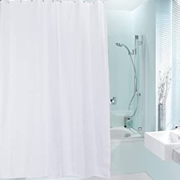 Rideau de douche Rideaux de douche en Polyester, Blanc, 200 x 240 cm ...