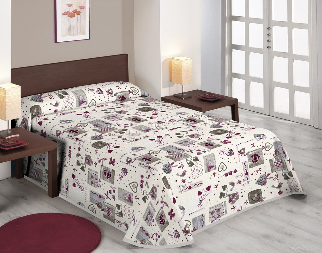 Sabanalia Love - Colcha estampada (Disponible en varios tamaños), cama 150 - 250