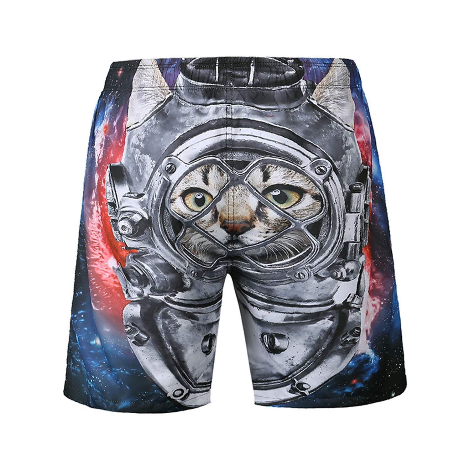 DHSPKN 3D Mens Swim Trunks Surf Quick Dry Board Shorts Bathing Suit Funny Summer Beach Pants for Men