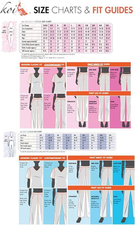 Realizzati in cotone e poliestere.Vari colori:lampone//azzurro//blu//bianco//nero Pantaloni da donna Koi con cordoncino regolabile per professioni sanitarie come medici//infermieri//veterinari e dentisti