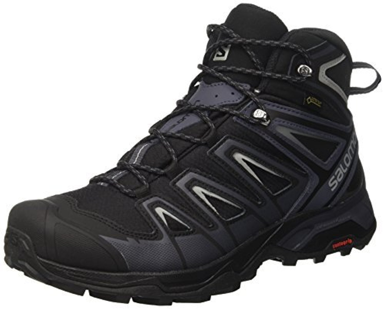 Salomon Men's X Ultra 3 Mid GTX Hiking Shoe - Black/India Ink/Monument - L39867400 (Black/India Ink/Monument - 12.5)
