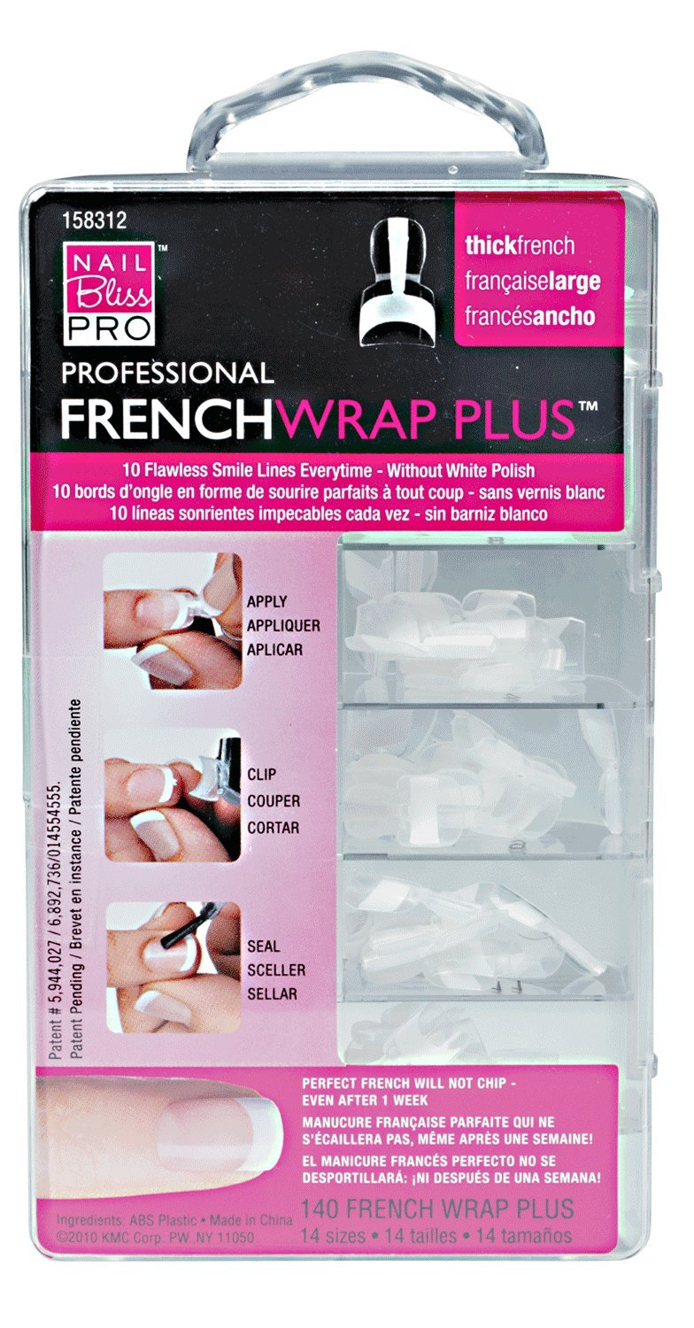 Amazon.com: Nail Bliss French Wrap Plus, Thick, 140 Count: Beauty