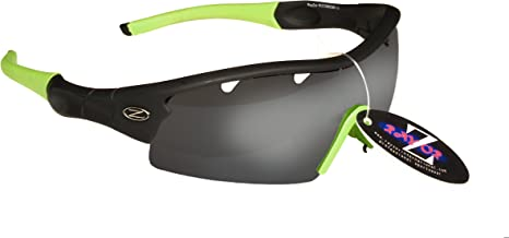 612 RayZor Uv400 GunMetal Grey Sports Wrap Sunglasses Smoked Mirror Lens RRP£49