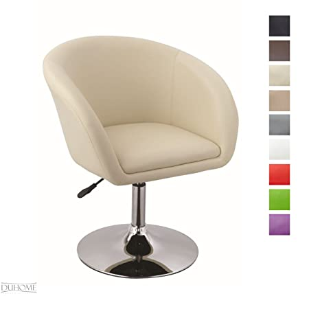 Armchair Tub Chair Cream Club Chair Lounge Chair Faux Leather Dining Chair  Height Adjustable Colour Selection