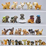 GuassLee Mini Plastic Puppy Dog Figurines for Kids - 28 Pack High Imitation Detailed Hand Painted Realistic Small Dog…