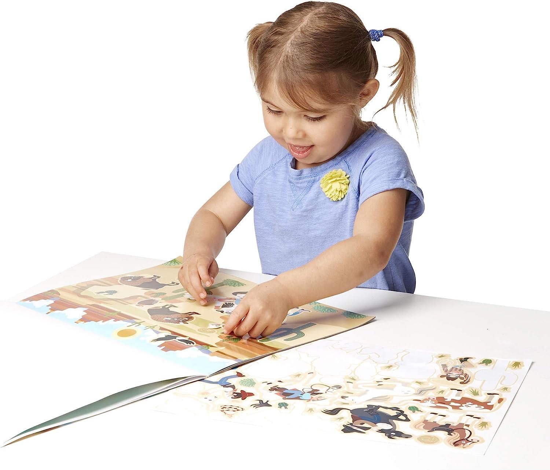 Melissa /& Doug Reusable Sticker Pad Gift for Boy or Girl Adventure 3+ Sticker Pad Activity Pad