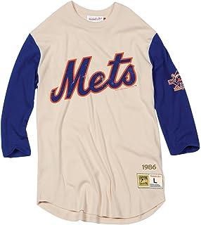 21864ba9d Mitchell   Ness New York Mets MLB Men s Wild Pitch 3 4 Sleeve Premium Shirt