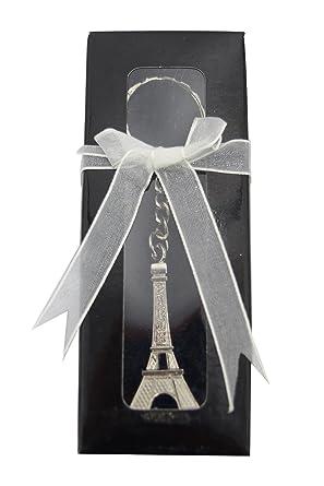 Amazon.com: Torre Eiffel de París Estatua Llavero – Pequeñas ...
