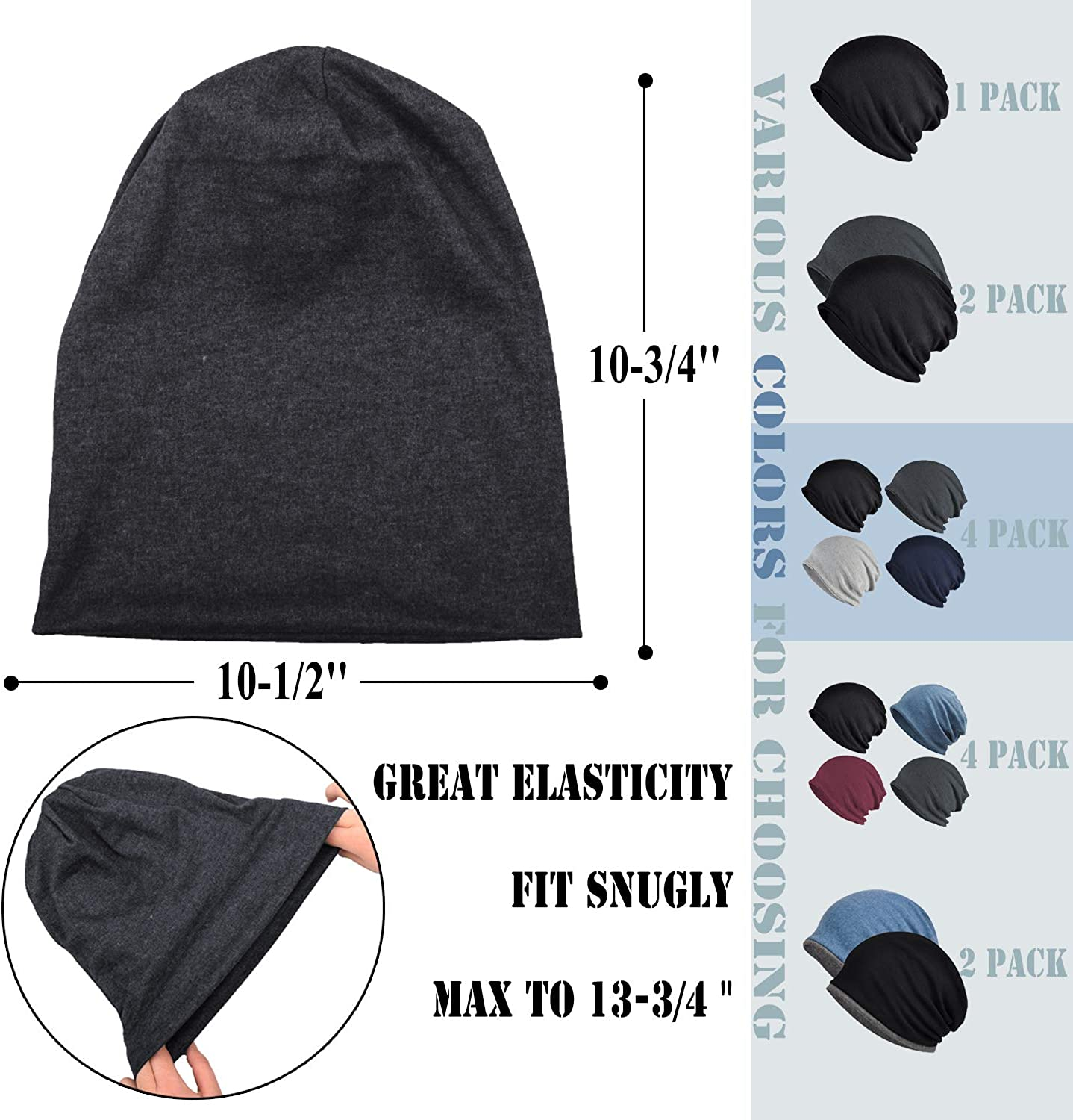 Cancer hat Chemo hat no outer seams. Cotton Beanie slouchy hat Two-layer hat made of light cotton jersey