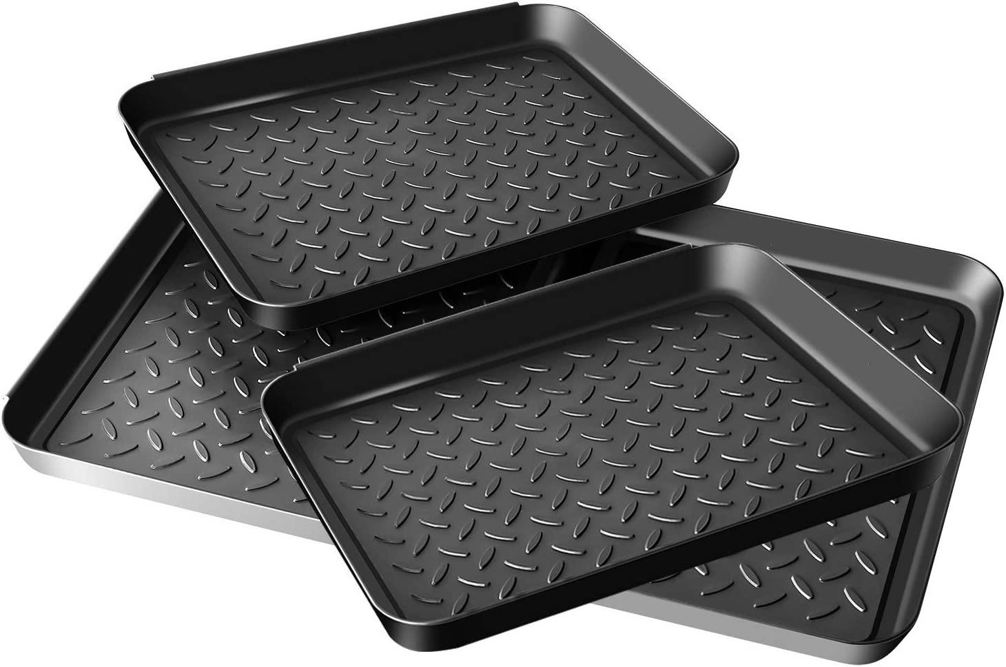 Enyeezion Boot Tray - Heavy Duty Shoe Mat Trays, Dog Bowl or Cat Bowl Mats Trap Mud, Water and Pet Food Mess to Protect Floors
