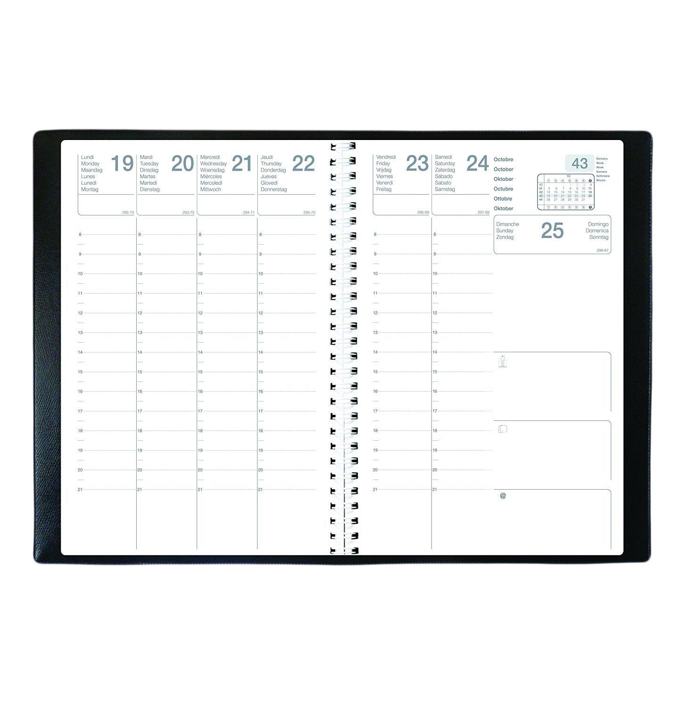 Agenda Semainier Civil OLYMPE S 2019 - Reliure spirale - Format : 16x24cm - Couverture Noire Générique 623001Q