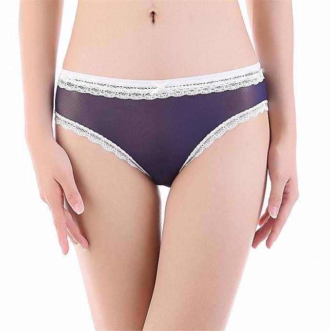 Summer Mesh Underwear Women Transparent Panties Lace womens briefs Grey XXL at Amazon Womens Clothing store: