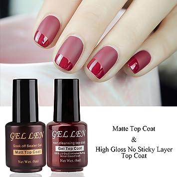 Gellen - Juego nº1 de 4 esmaltes de uñas de gel - Secado con lámpara UV. Pasa ...
