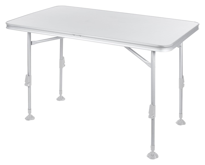Campart Campingtisch/ Reisetisch - 115 x 70 cm wetterBesteändige Rolltischfläche/ höhenverstellbar/ einfach auf- und zusammenklappbar, TA-0859