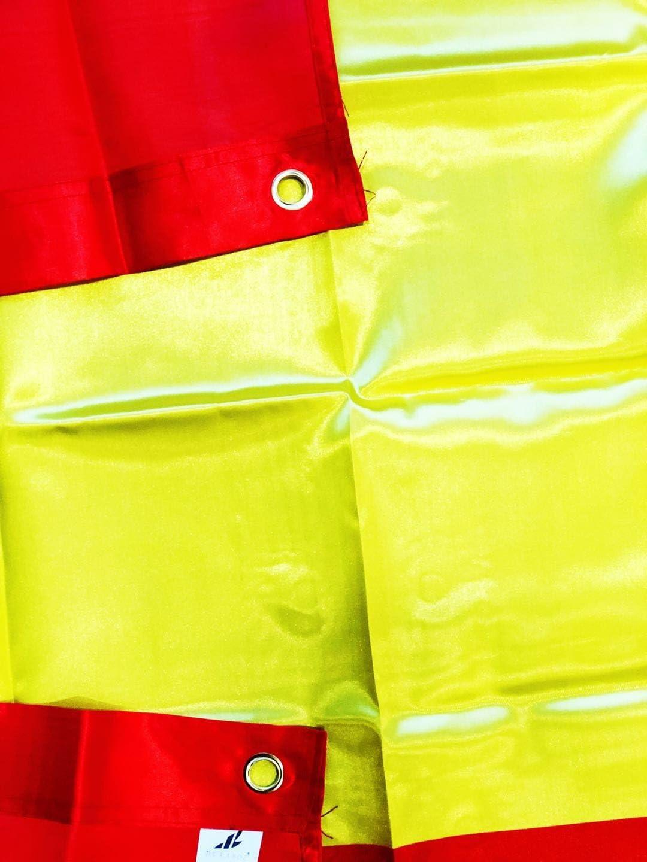 Durabol Bandera de España Sin Escudo Flag 90x150cm Satin 2 Anillas metálicas fijadas en el Dobladillo: Amazon.es: Jardín