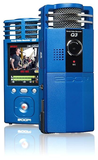 amazon com zoom q3 handy video recorder metal blue discontinued rh amazon com Zoom HD Recorder 3 zoom q3hd handy video recorder manual