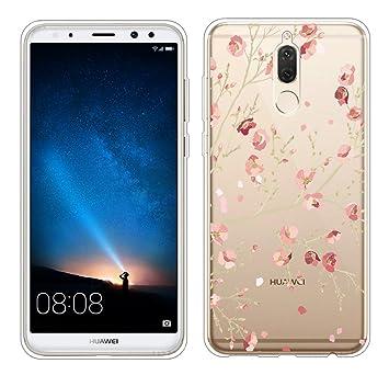 Huawei Mate 10 Lite Funda, ivencase Carcasa Flexible Ultra Slim Transparente Crystal Clear Soft TPU Silicone Back Bumper de Alta Resistencia Skin Case ...