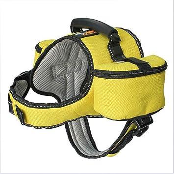 Ttyhch Mochila para Perro Pet Saddle Bag Reflexivo Ajustable para ...