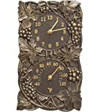Whitehall Products Grapevine Combo Clock, French Bronze