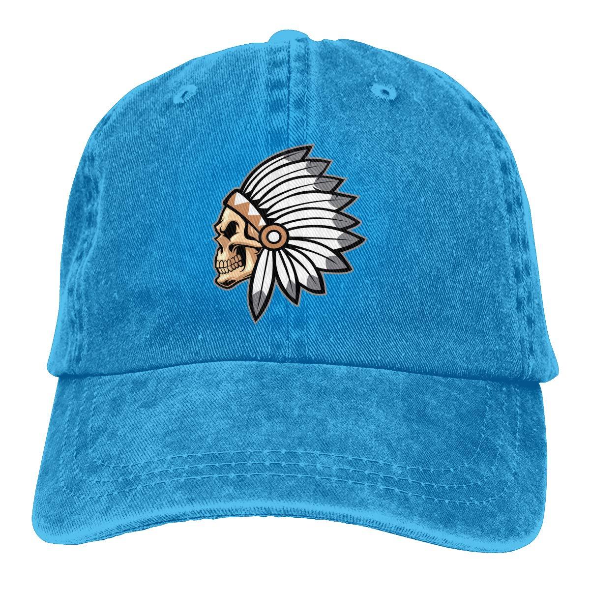 Native American Chief Fashion Adjustable Cowboy Cap Baseball Cap for Women and Men