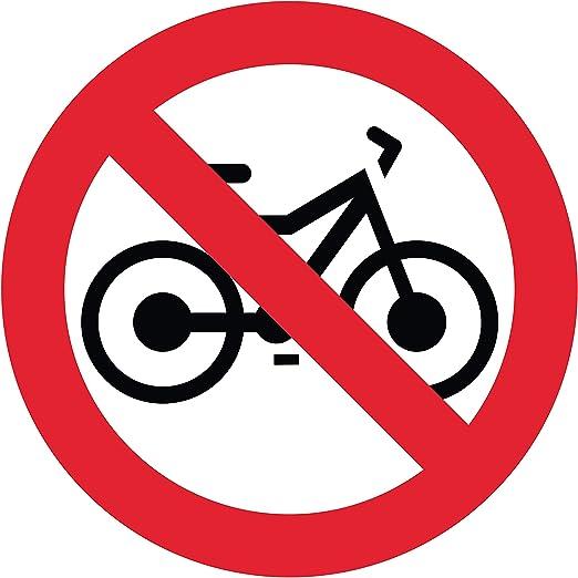 Adhesivo Prohibido para Bicicleta, diámetro 20 x 20 cm: Amazon.es ...