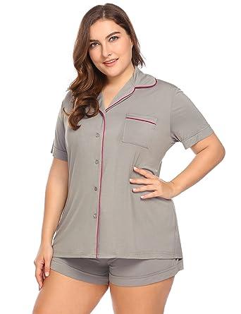 23bfd66b9a Women s Plus Size Sleepwear Short Sleeve Pajama Set with Pj Shorts 16W-24W