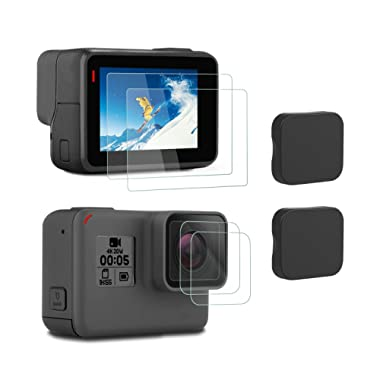 iTrunk Screen Protector Compatible for GoPro Hero 7 Black (2018) / 6/5, Ultra-Clear Tempered-Glass LCD Screen Protector Lens Cover Cap Compatible for Hero7 (2018) 6 5 Black Action Camera (2pcs)