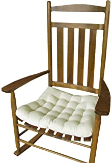Superbe Rocking Chair Seat Cushion W/ Ties   Natural Unbleached Cotton Duck (Solid  Color)