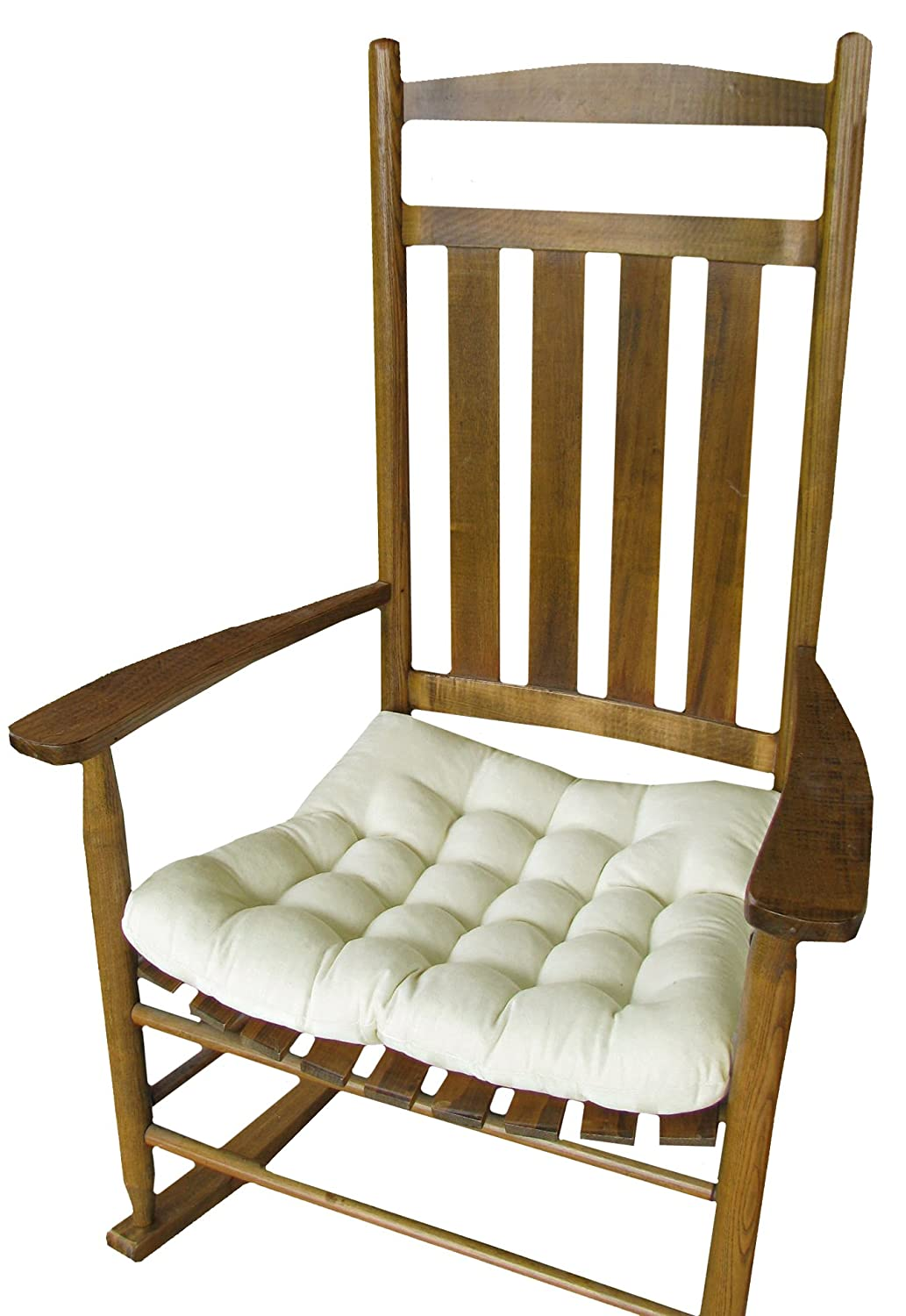 Amazon.com: Rocking Chair Seat Cushion w/ Ties - Natural ...