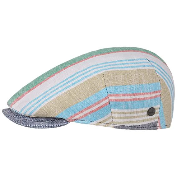 950055ea38732b Lierys Capri Bic Linen Stripes Flat Cap Ivy hat: Amazon.co.uk: Clothing