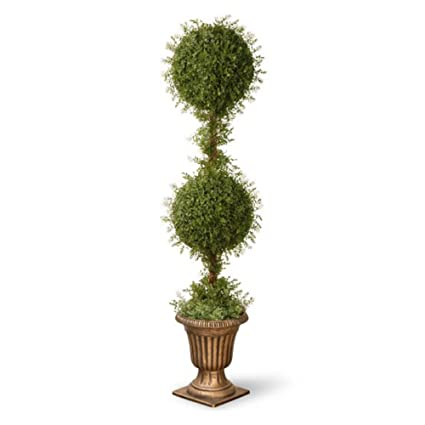 Christmas Topiary Decor.Amazon Com Cc Christmas Decor 60 Potted Artificial Gold