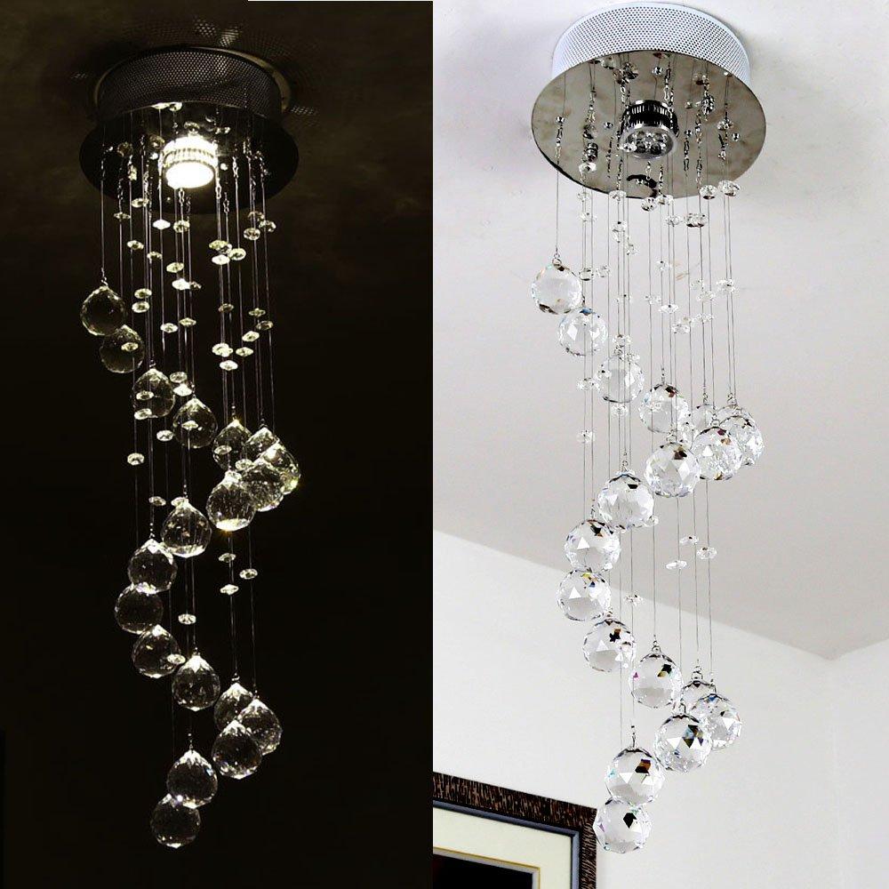 Natsen® LED Kristall Deckenlampe Deckenleuchte Designer Hängelampe ...