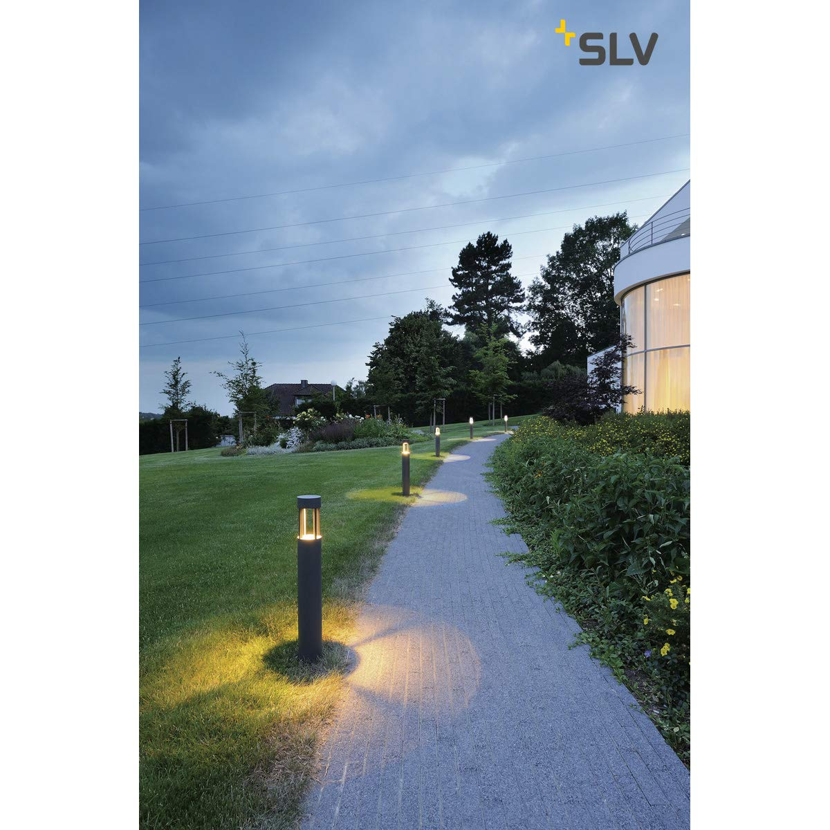 gris anthracite blanc chaud SLV 231455/emplacements 300 7/W LED en aluminium gris anthracite, lampe standard