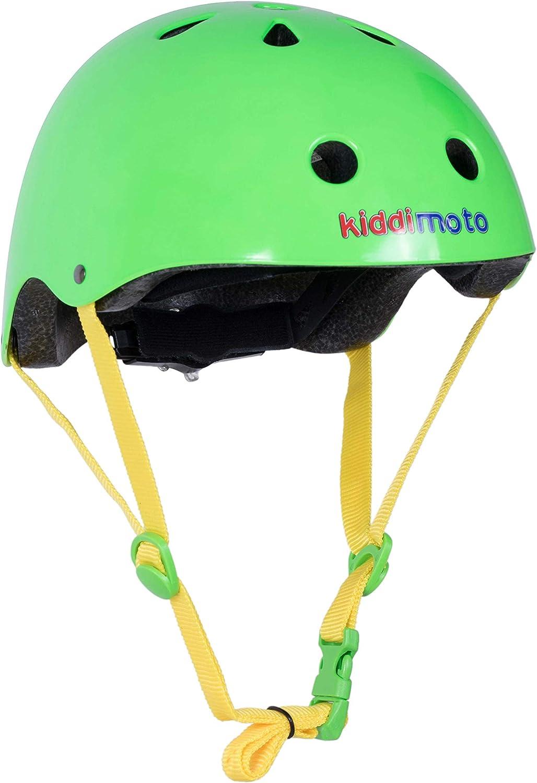 Kiddimoto Helmet, Neon Green, Small 48-53 cm