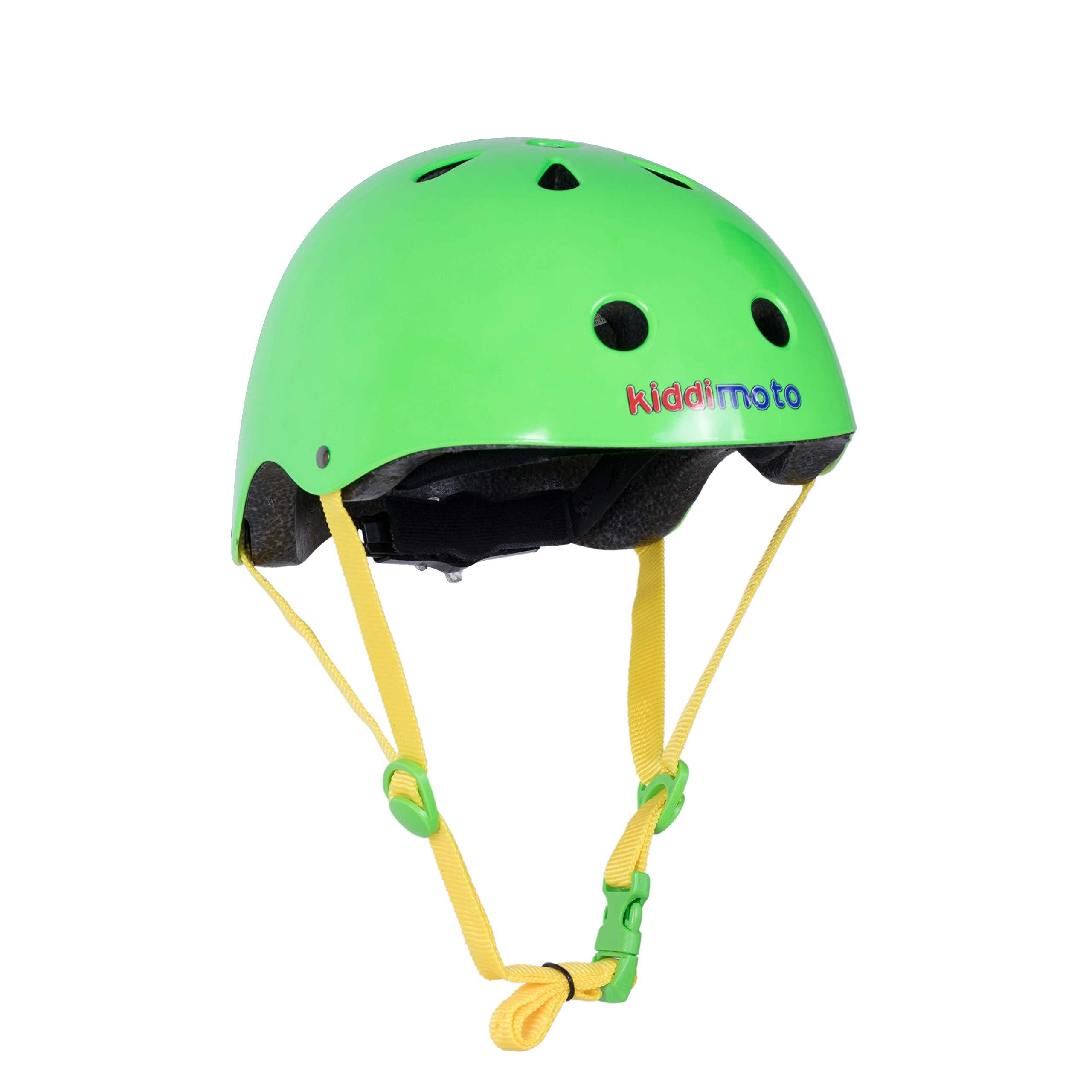 Kiddimoto Helmet, Neon Green, Small (48-53 cm)