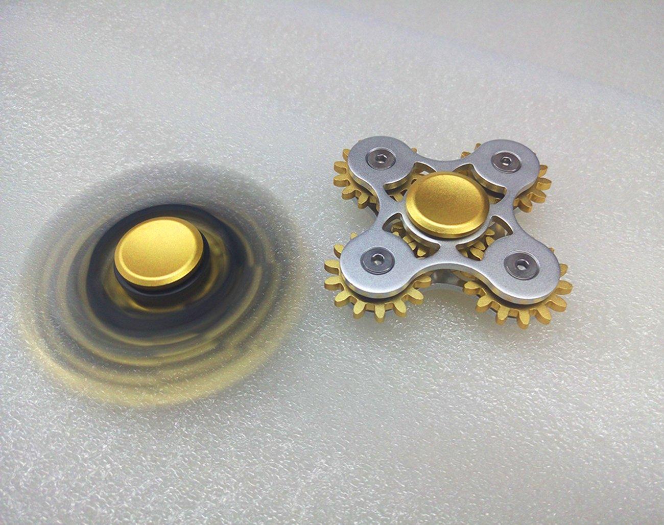 5 Gears Linkage Metal Fidget Hand Spinner Fast Rotation Luxury Stress Relief Toy(Nickel)