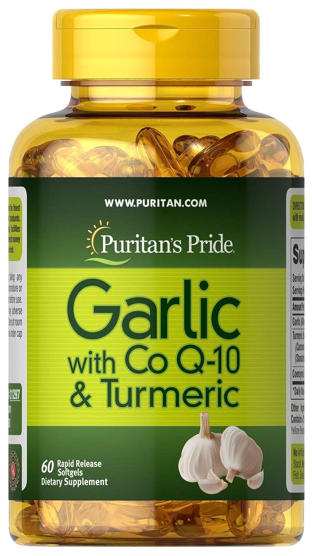 Puritan's Pride Garlic with Co Q-10 & Turmeric-60 Softgels