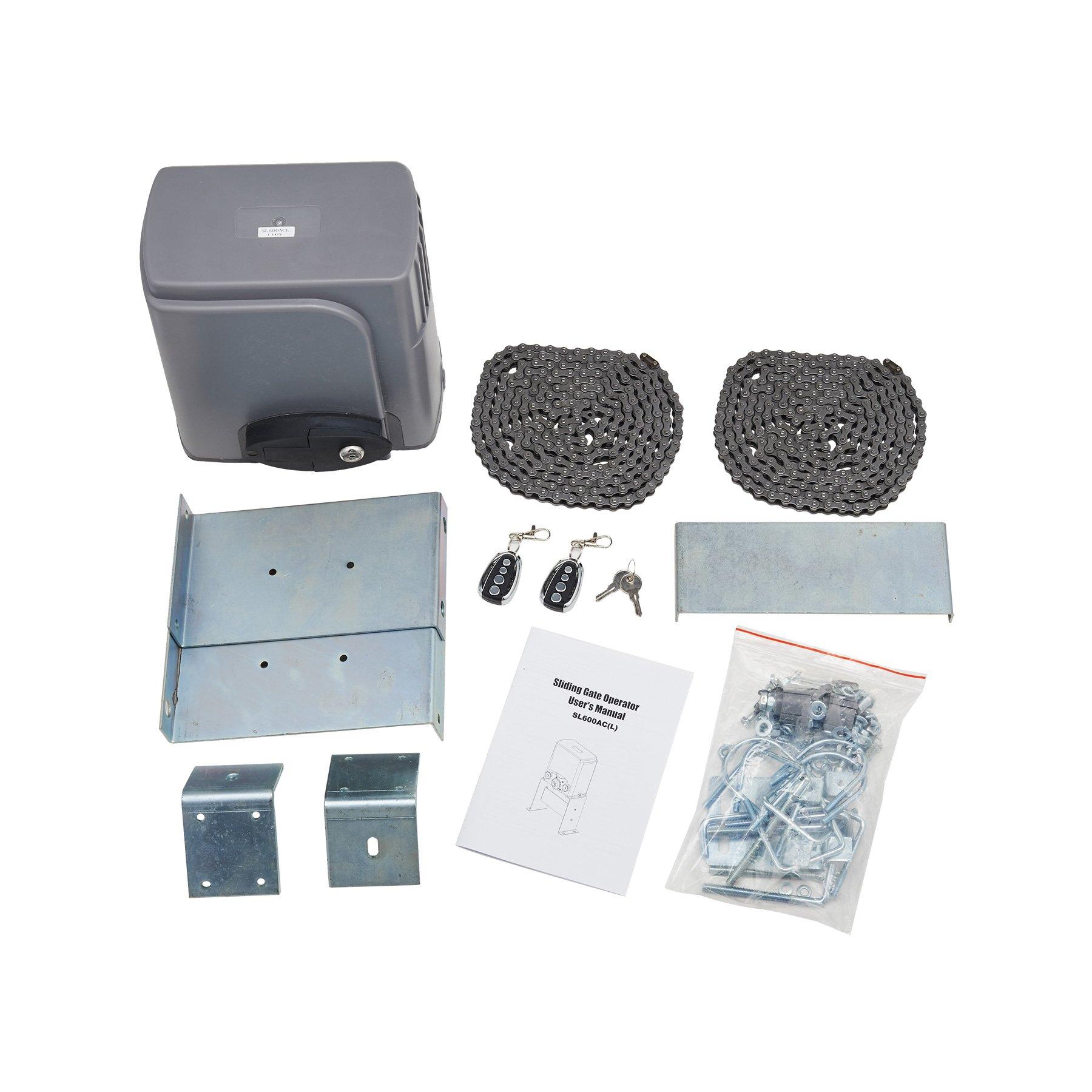CO-Z Automatic Sliding Gate Opener Hardware Sliding Driveway Security Kit (Sliding Gate Opener)