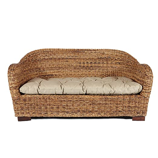 Rotin Design REBAJAS : -38% Sofa de ratan Azur marron ...