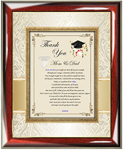 Amazoncom College Graduate Personalized Thank You Gift Of Poetry