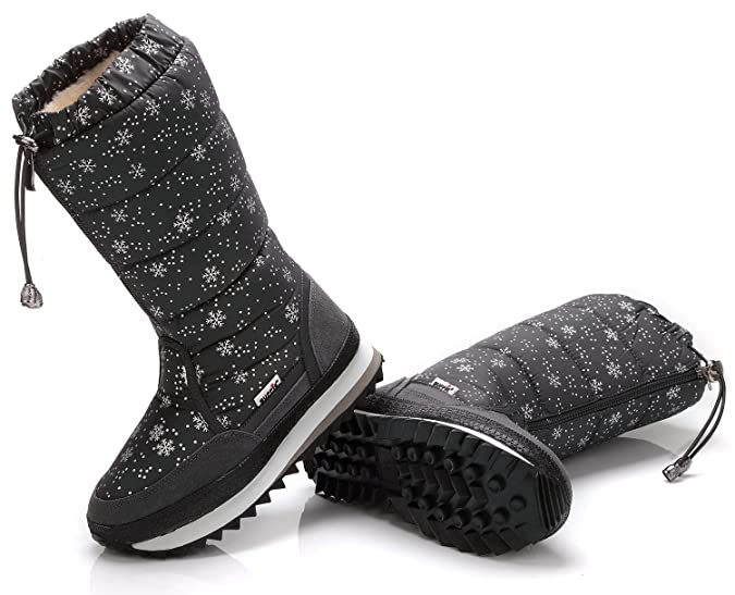 uBeauty Women Snow Boots Waterproof Warm Outdoor Sports Boots Mid Calf  Boots Anti Skid Winter Platform Boots: Amazon.co.uk: Shoes & Bags