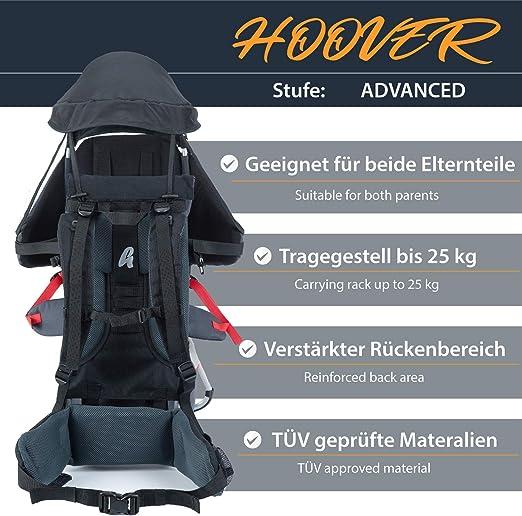 MONTIS Hoover, Mochila portabebés, 25 kg, Gris: Amazon.es ...