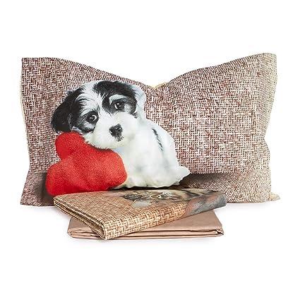 Lenzuola Una Piazza E Mezza Misure.Completo Lenzuola Dogs E Cats Di Bassetti Dimensioni Varie R678