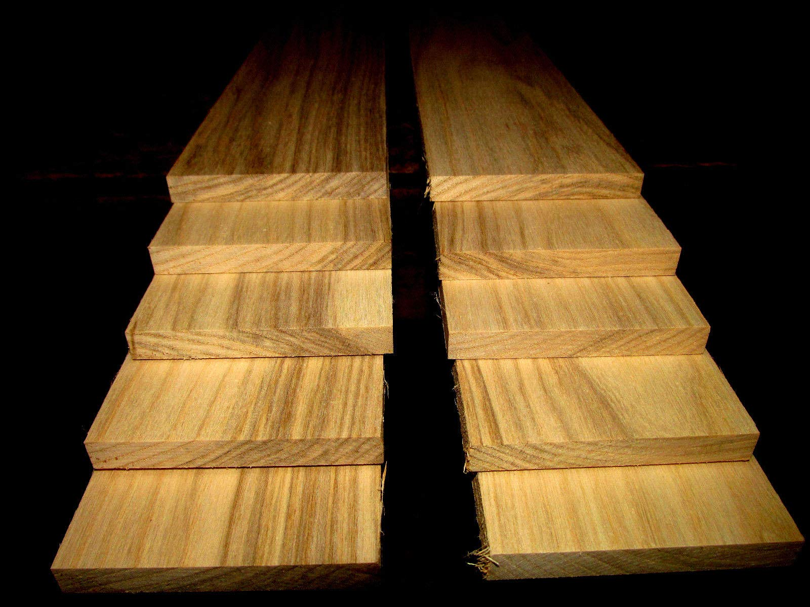 Packages of Thin Premium KILN Dried, Sanded Hackberry Lumber Ten 24'' X 3'' X 3/8''