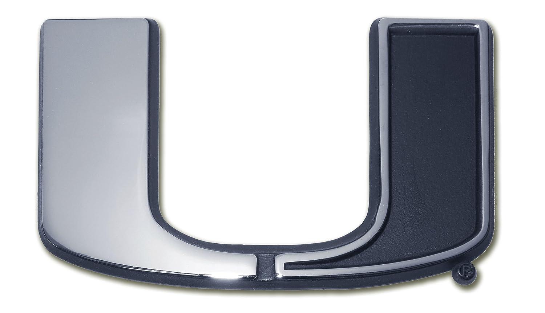 Split U Emblem Elektroplate University of Miami