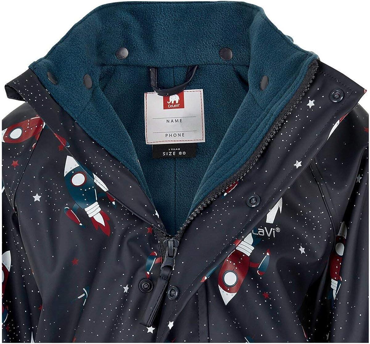 Celavi Boys Rainwear Suit with Fleece Rain Jacket