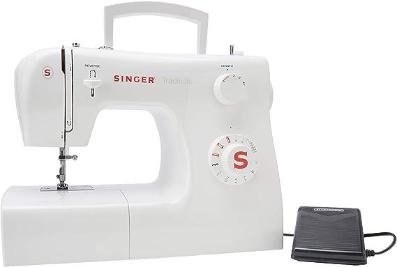Singer 2250 Tradition - Máquina de Coser mecánica, 10 Puntadas, 43 x 22 x 35,2 cm, Blanco: Amazon.es: Hogar