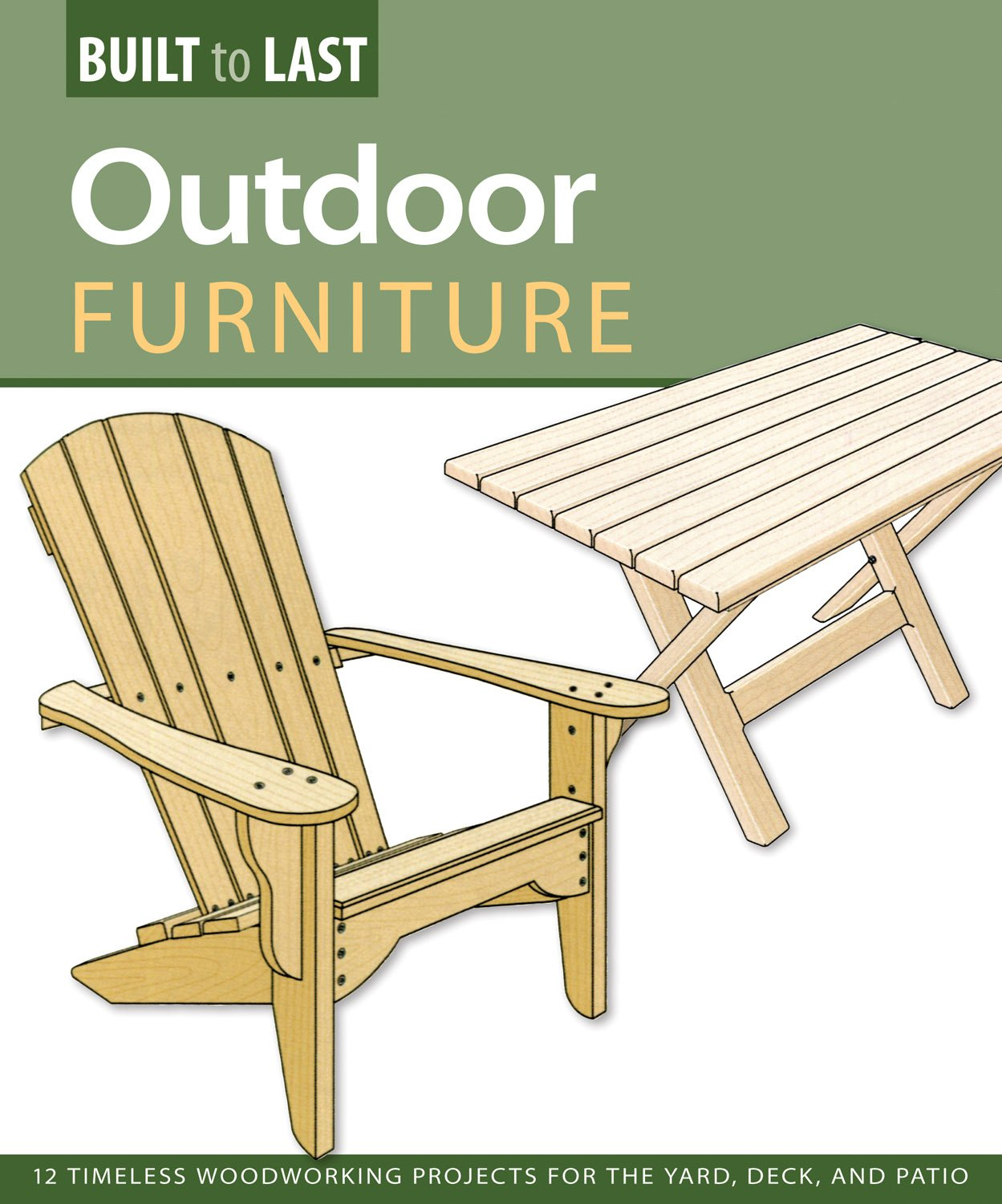 Outdoor Furniture (Built To Last): 14 Timeless Woodworking Projects For The  Yard, Deck, And Patio: Skills Institute Press: 9781565235007: Amazon.com:  Books